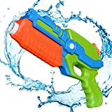 TeaQ Water Pistol Long Range 8-10m Portable Design for Kids and Adults Target Games Color in Random