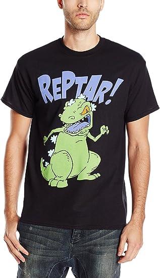 Nicktoons Rugrats Reptar Tee Shirt Black