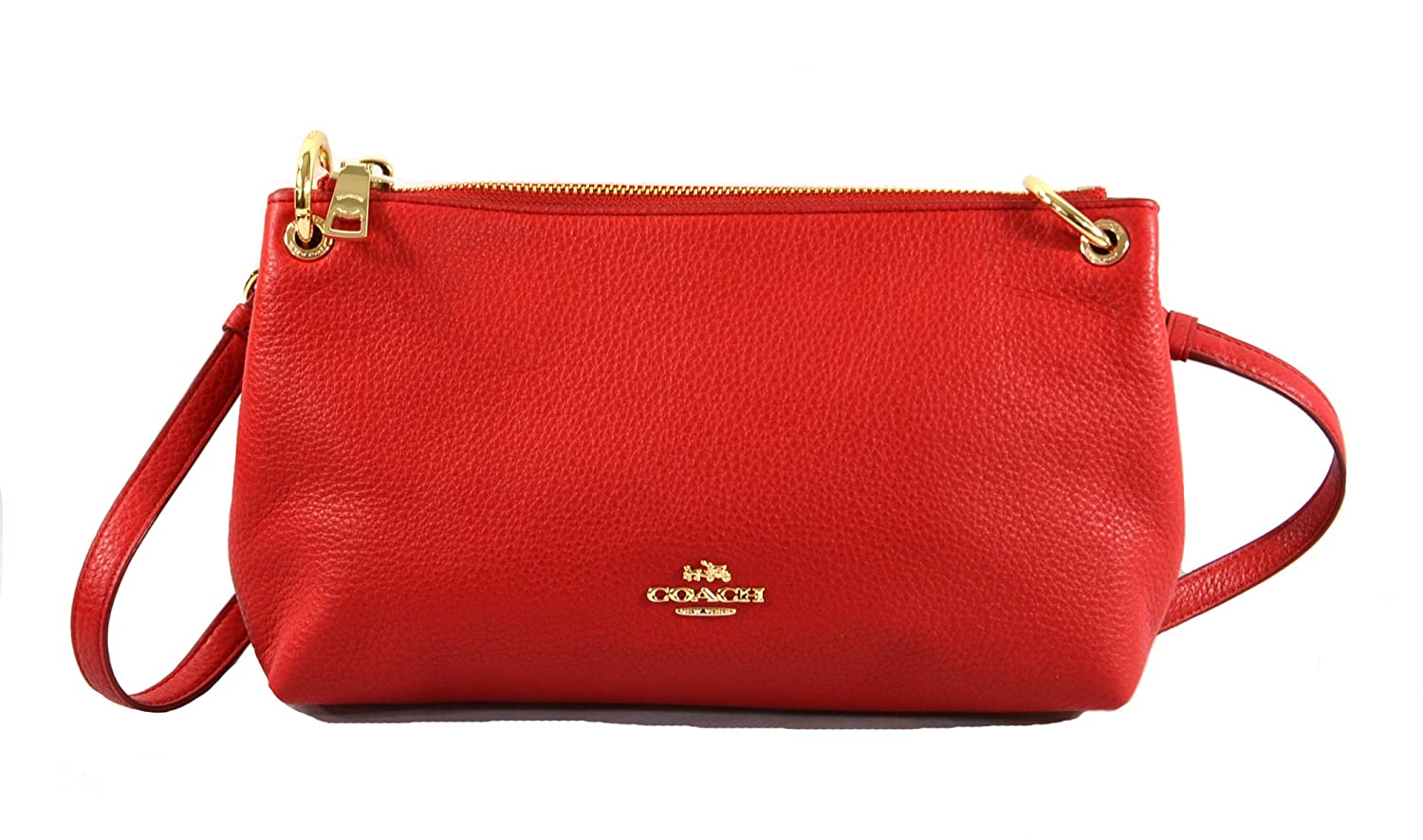 2f86340120c2 Coach Charley Crossbody in Pebble Leather True Red F55661  Handbags   Amazon.com