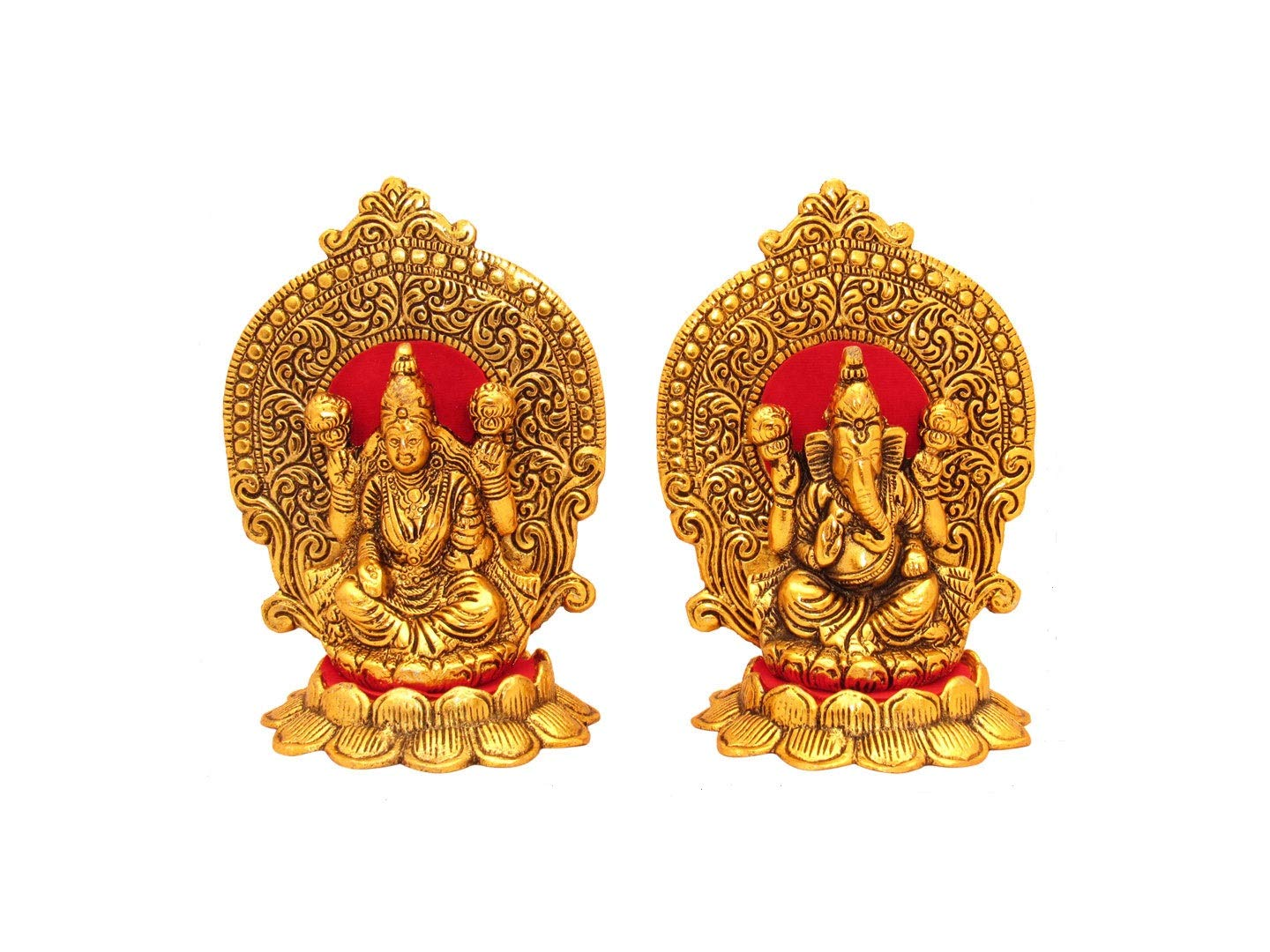Buy Goldgiftideas Oxidized White Metal Gold Plated Laxmi Ganesha