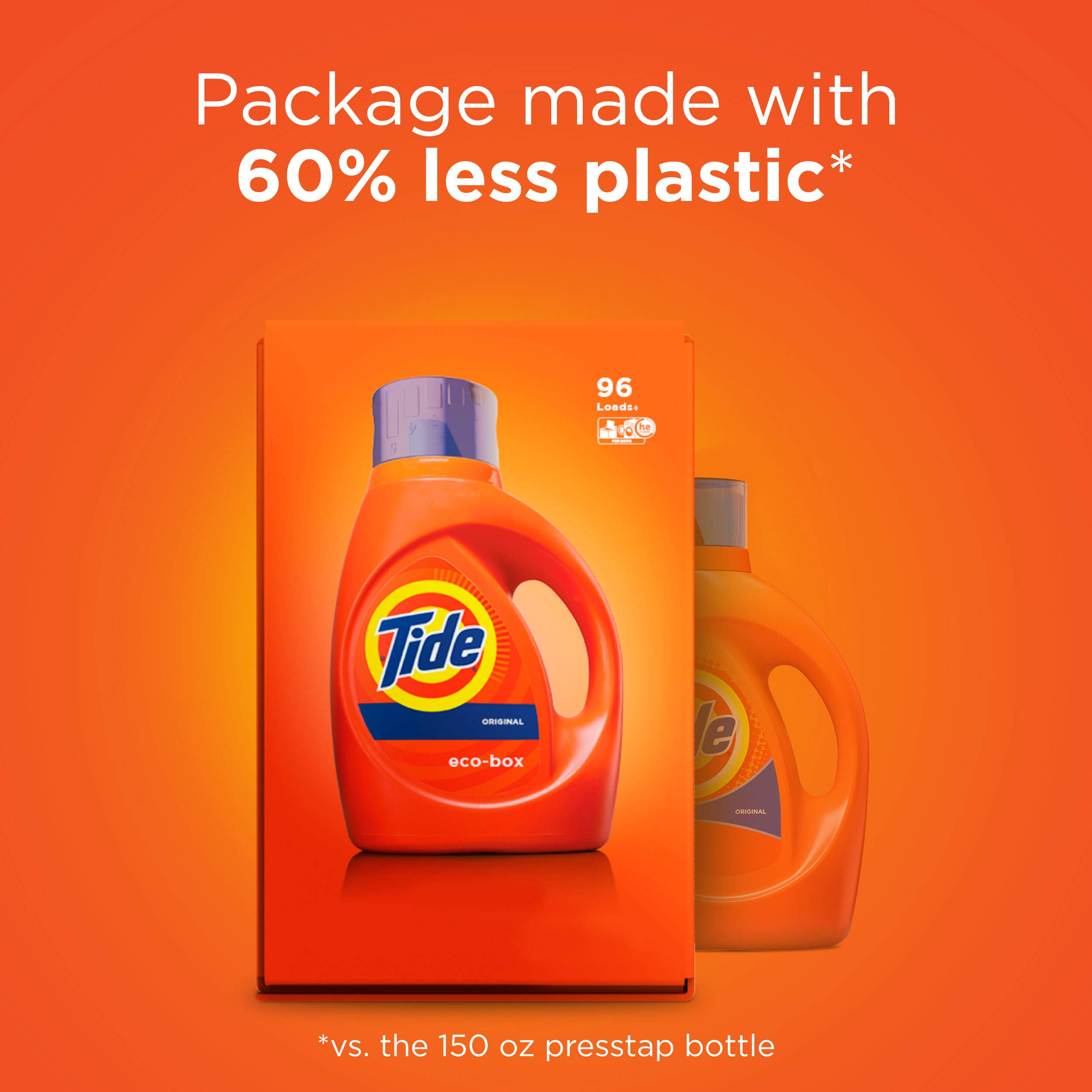Tide Laundry Detergent Liquid Eco-Box, Concentrated, Original Scent, 105 oz, HE Compatible, 96 Loads by Tide (Image #9)
