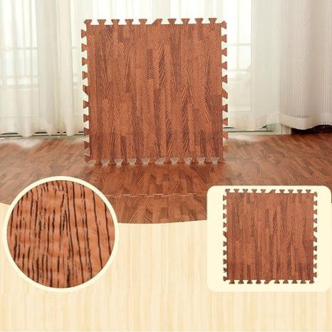 Luvodi 24 Pieces Dalle En Mousse A Grain De Bois 60 X 60 Cm