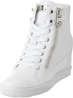 JQNSX Baskets Femmes Chaussures à Talons Hauts Chaussures De Toile ... 439b39ec6dcc