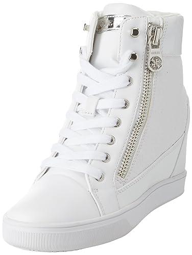 Guess Footwear Active Lady, Baskets Hautes Femme, Blanc (White blanc), 41 EU