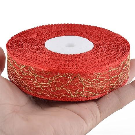 Amazon.com: Festival de poliéster eDealMax cumpleaños DIY Regalo de la Torta de embalaje decorativo Craft Rollo de Cinta roja: Health & Personal Care