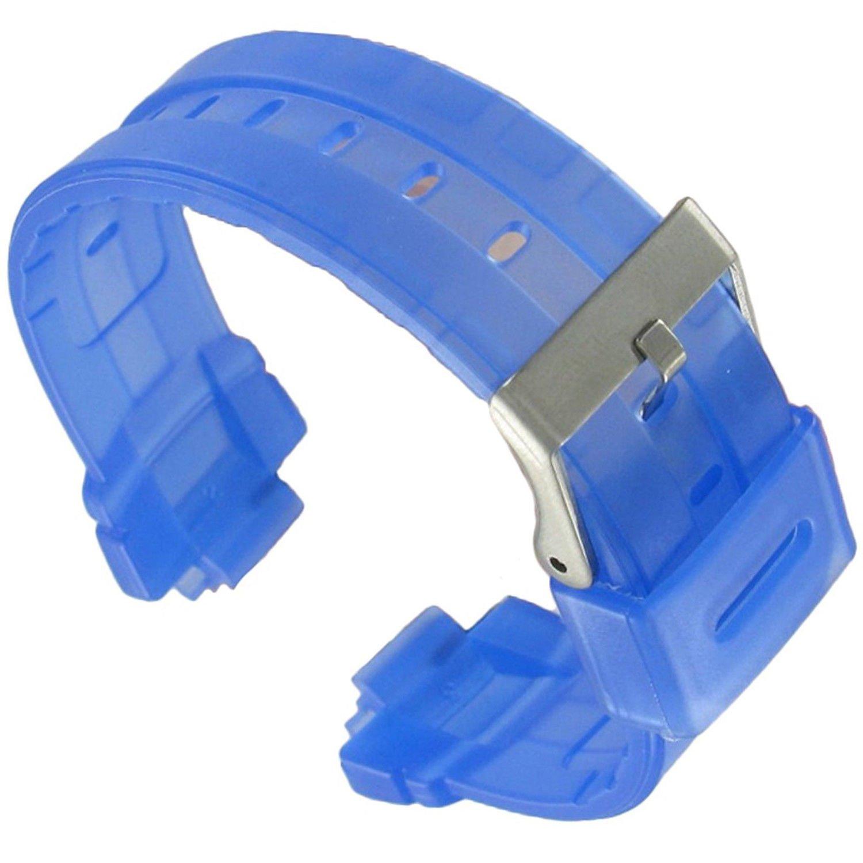 14 mm hadley-roma透明ブルーRubber Fits Casio Baby G Ladies Watch Band Long ls3132  B07B4N7PCZ