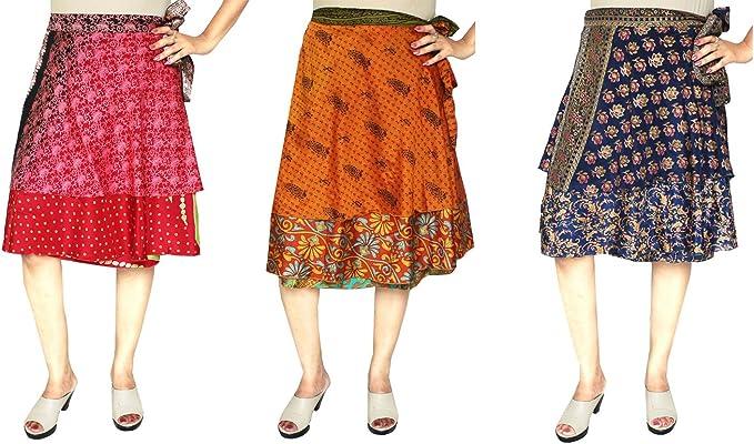 MapleClothing 3 Pcs al por Mayor Porción Dos Capas Sari India ...