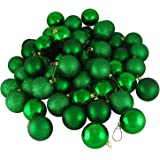 Northlight 31754388 24 Count Xmas Green Shatterproof 4-Finish Christmas Ball Ornaments, 2.5""