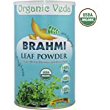 Organic Brahmi Powder 16 Ounce - 1 Lb. 100% Pure and Natural Herbs Raw Organic Super Food Supplement. Non GMO. Gluten FREE. ★ USDA Certified Organic ★ ALL NATURAL!
