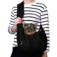 TOMKAS Small Dog Cat Carrier Sling Hands-Free Pet Puppy Outdoor Travel Bag Tote Reversible