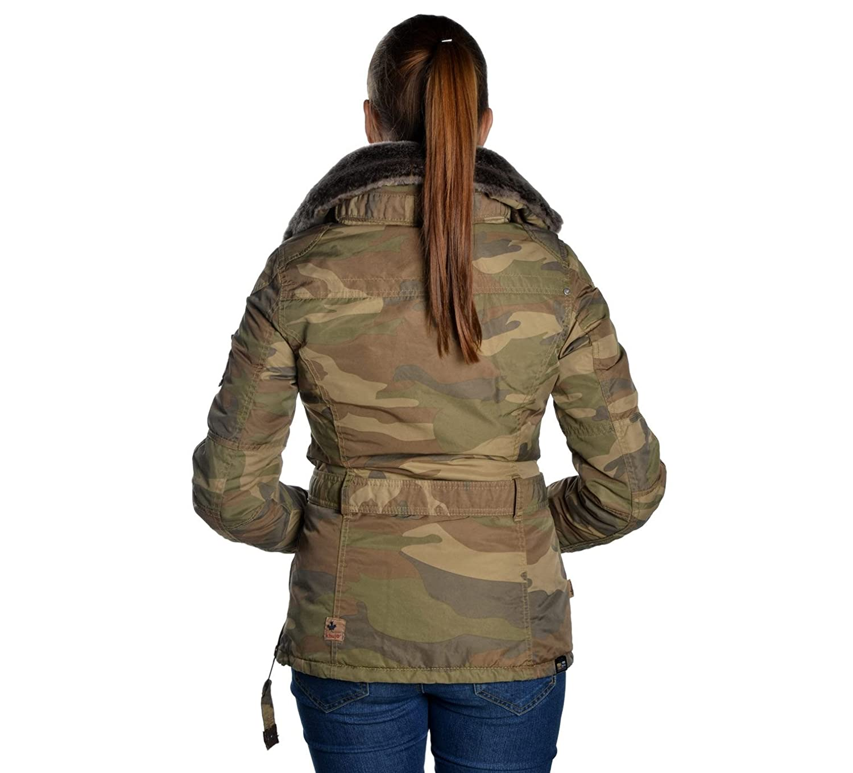 Khujo Magda Damen Winterjacke in camouflage, XXL [4446