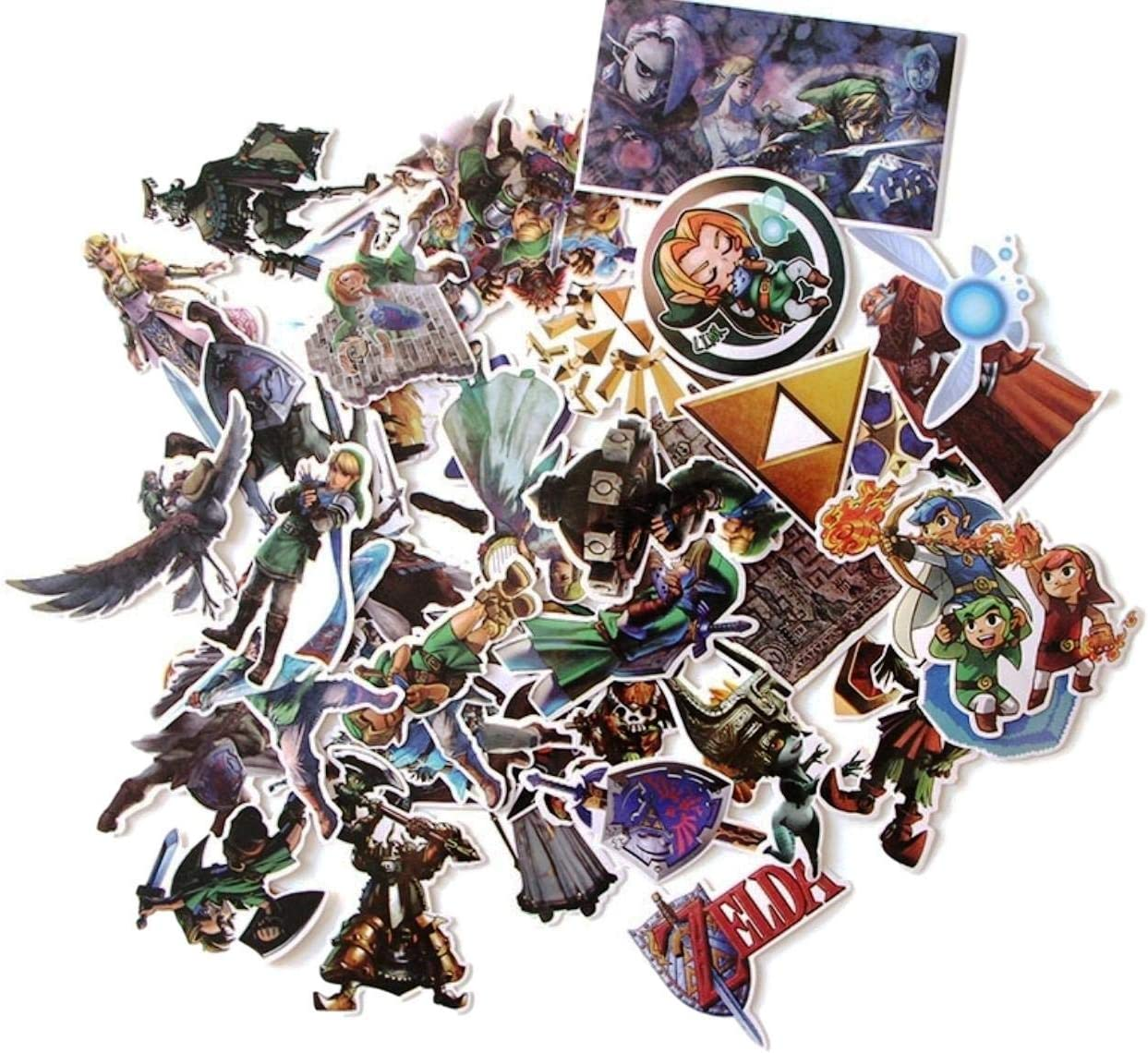 Video Game Themed Legend of Zelda 44 Piece Sticker Decal Set for Kids Adults - Laptop Motorcycle Skateboard Decals