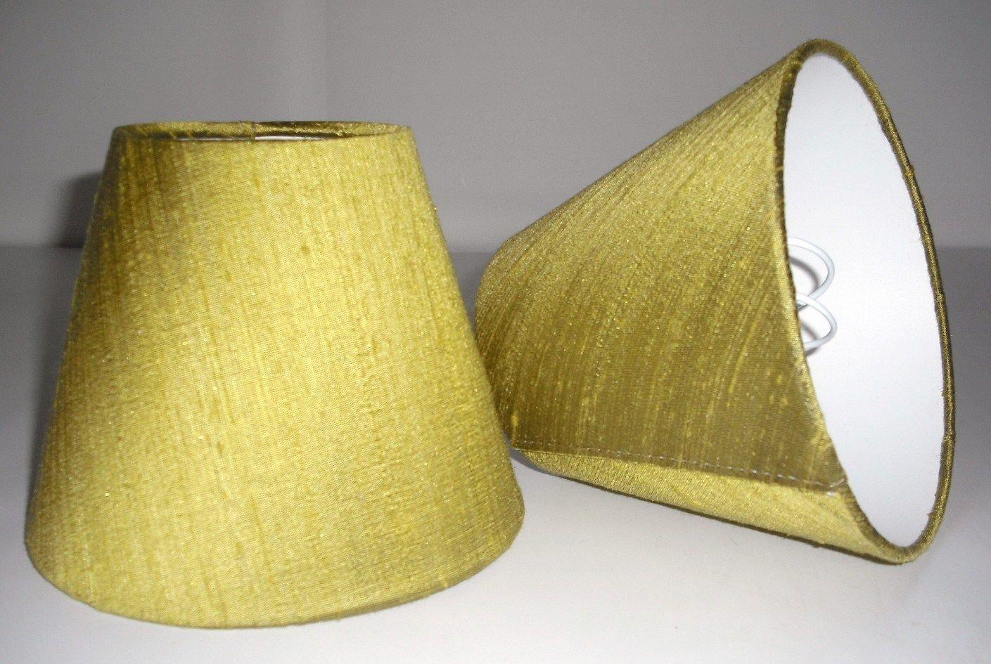 6 Pantalla para lámpara de mesa hecha a mano pequeña - Verde ...