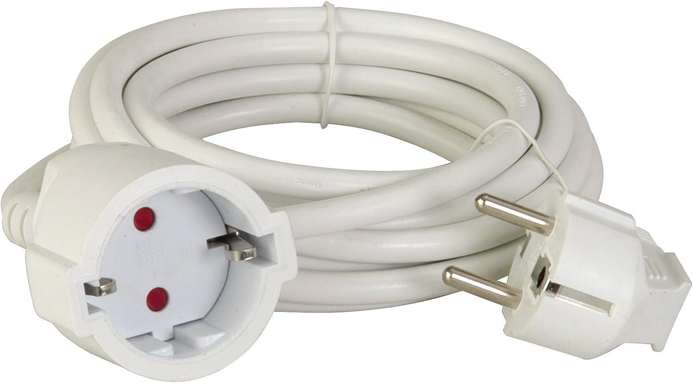 uniTEC 44542 - Cable alargador (H05VV-F 3G, 1, 5 mm², 5 m), color blanco