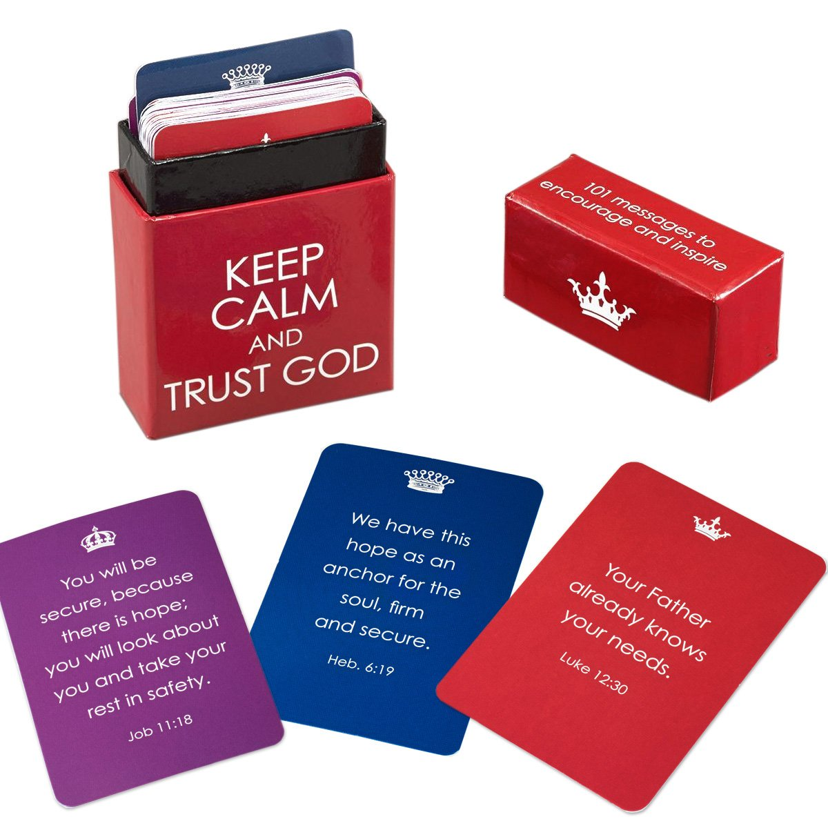 Keep Calm and Trust God Cards - A Box of Blessings: Christian Art Gifts:  6006937117631: Amazon.com: Books