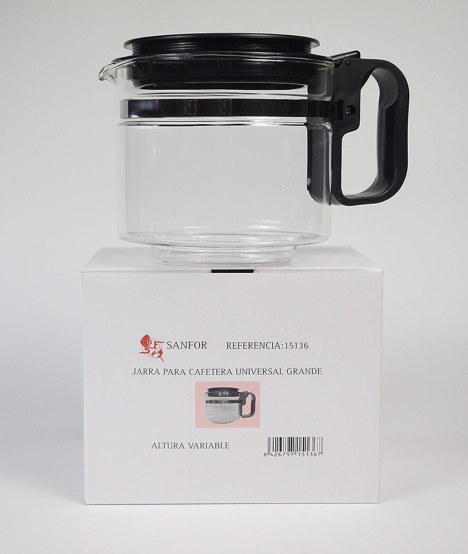 Sanfor Jarra universal de vidrio para cafetera eléctrica |Grande ...