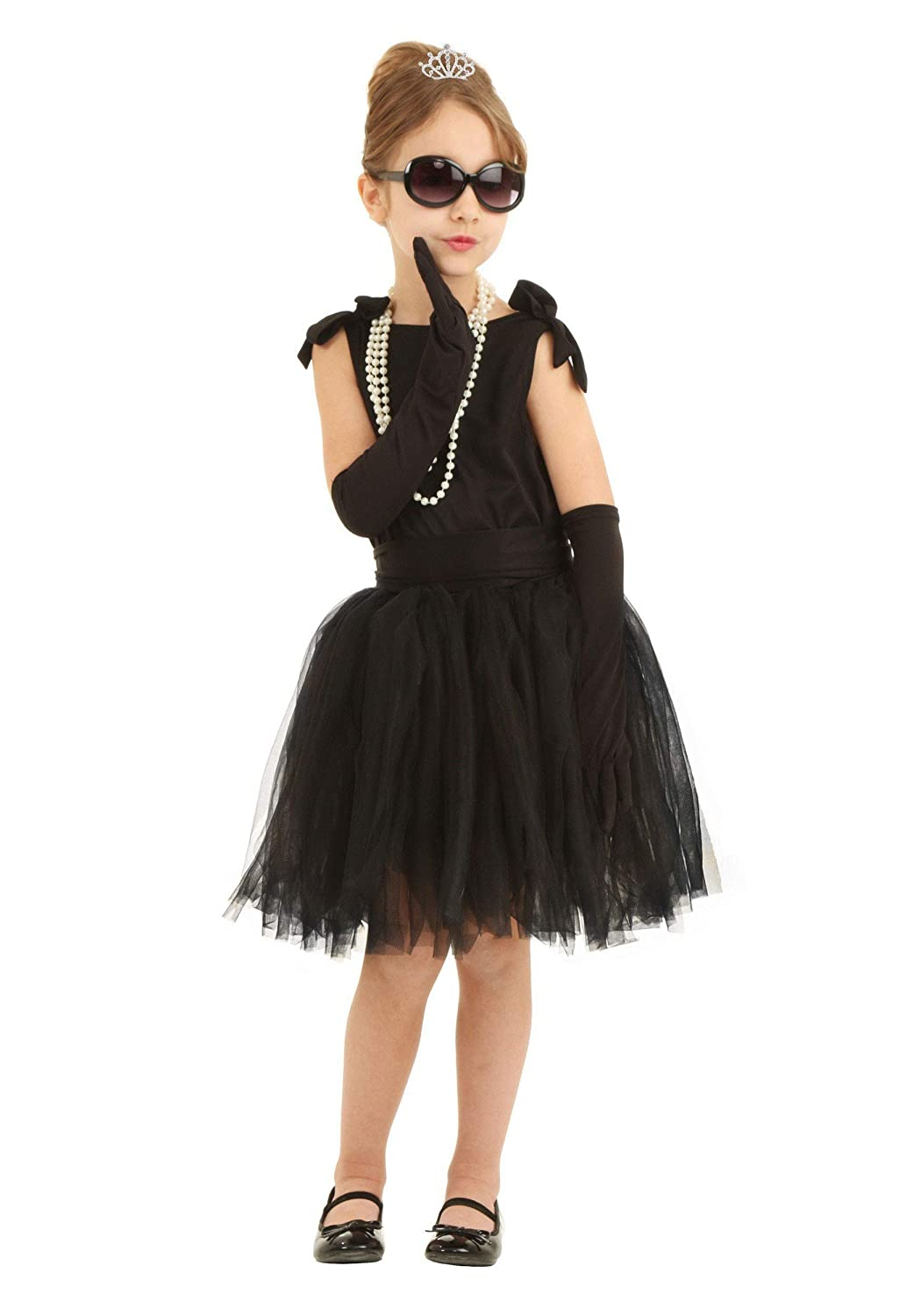 Kids 1950s Clothing & Costumes: Girls, Boys, Toddlers Child Breakfast at Tiffanys Holly Golightly Costume $29.99 AT vintagedancer.com