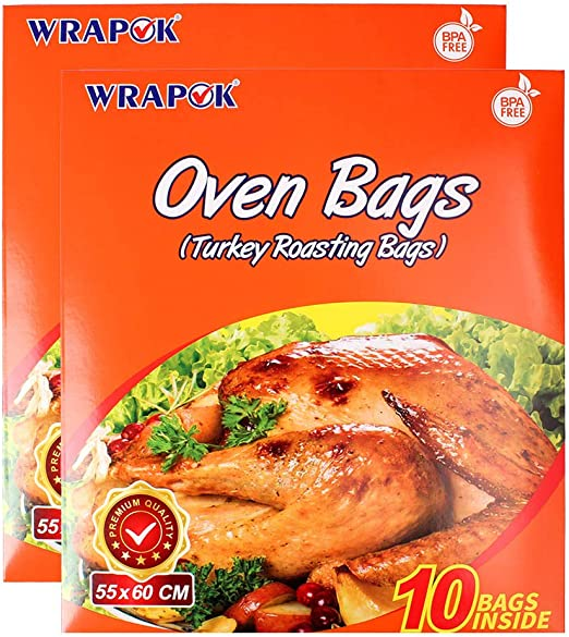 24 X LARGE ROASTING BAGS MICROWAVE OVEN COOKING POULTRY CHICKEN TURKEY MEAT FISH