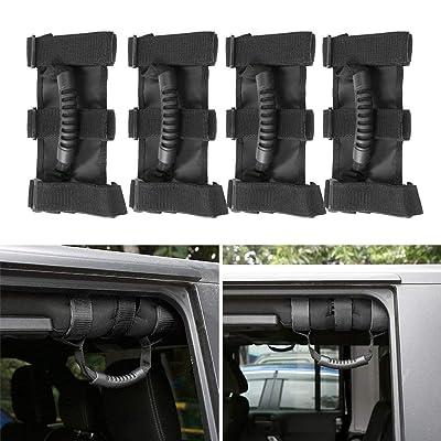 JeCar Grab Handles Heavy Duty Roll Bar Grip Handles for Jeep Wrangler 1955-2020 CJ YJ TJ JK JL & Unlimited: Automotive