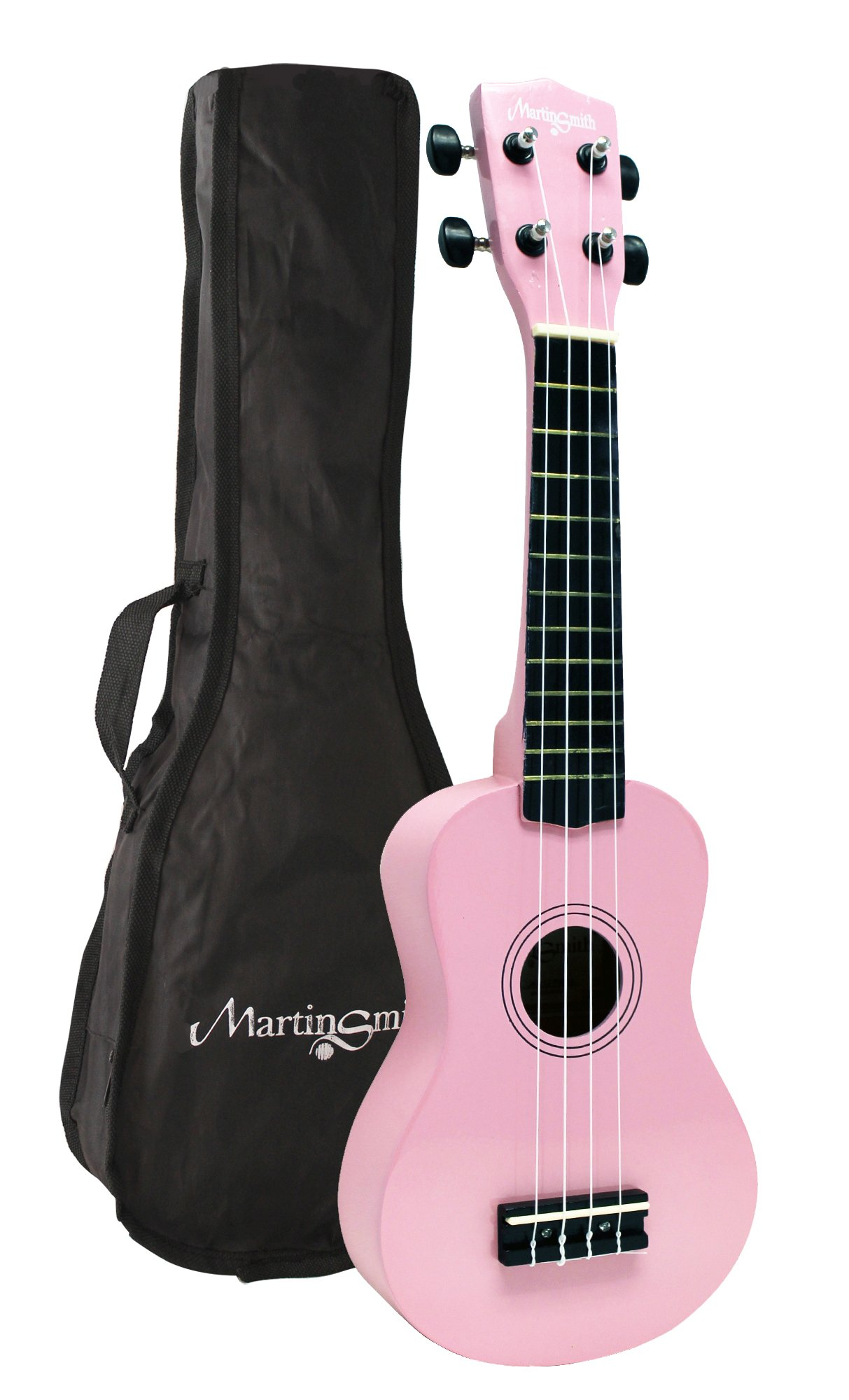 Martin Smith UK-212 - The ultimate Soprano Ukulele Starter kit, Pink