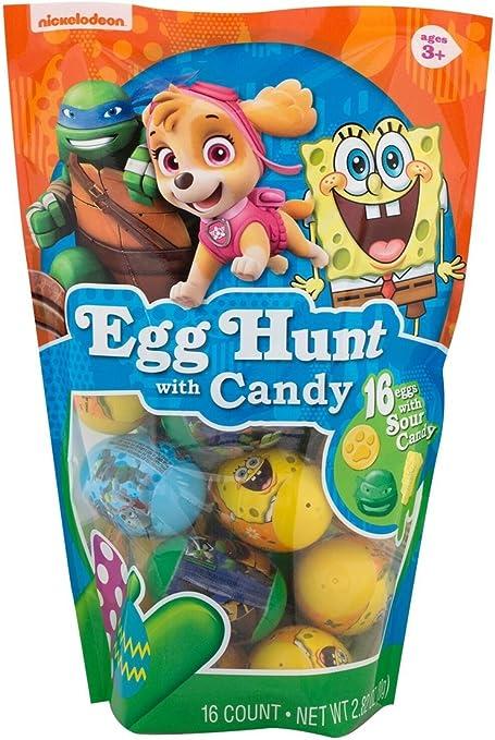 Amazon.com: Nickelodeon caracteres Egg Hunt Candy Huevos de ...