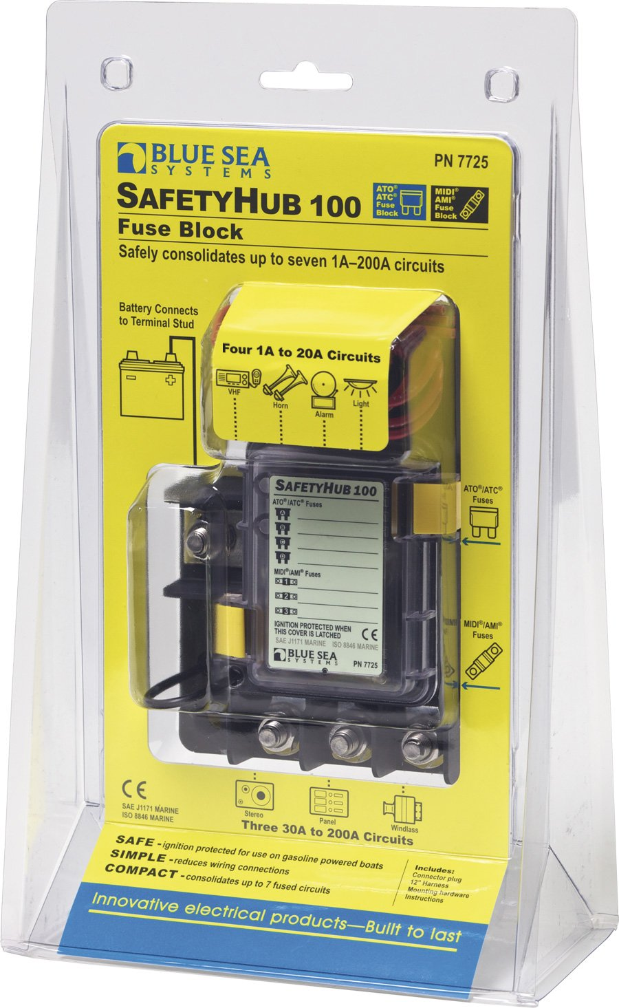 71hp vvBSOL._SL1465_ amazon com blue sea systems safetyhub 100 fuse block sports  at n-0.co