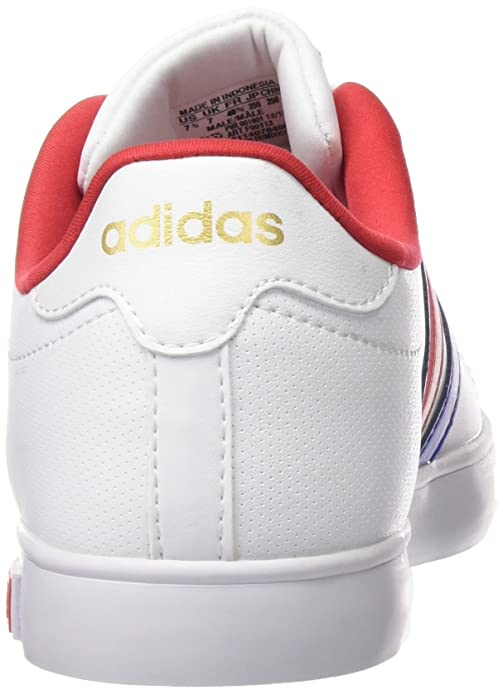 adidas Derby Vulc, Chaussures de Skate Homme - Différents Coloris - Blanc/Bleu/Doré (Ftwbla/Bleu/Dormat), 44 EU