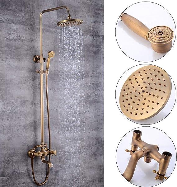 Set de ducha retro nostálgico sistema de ducha dorado, con ...