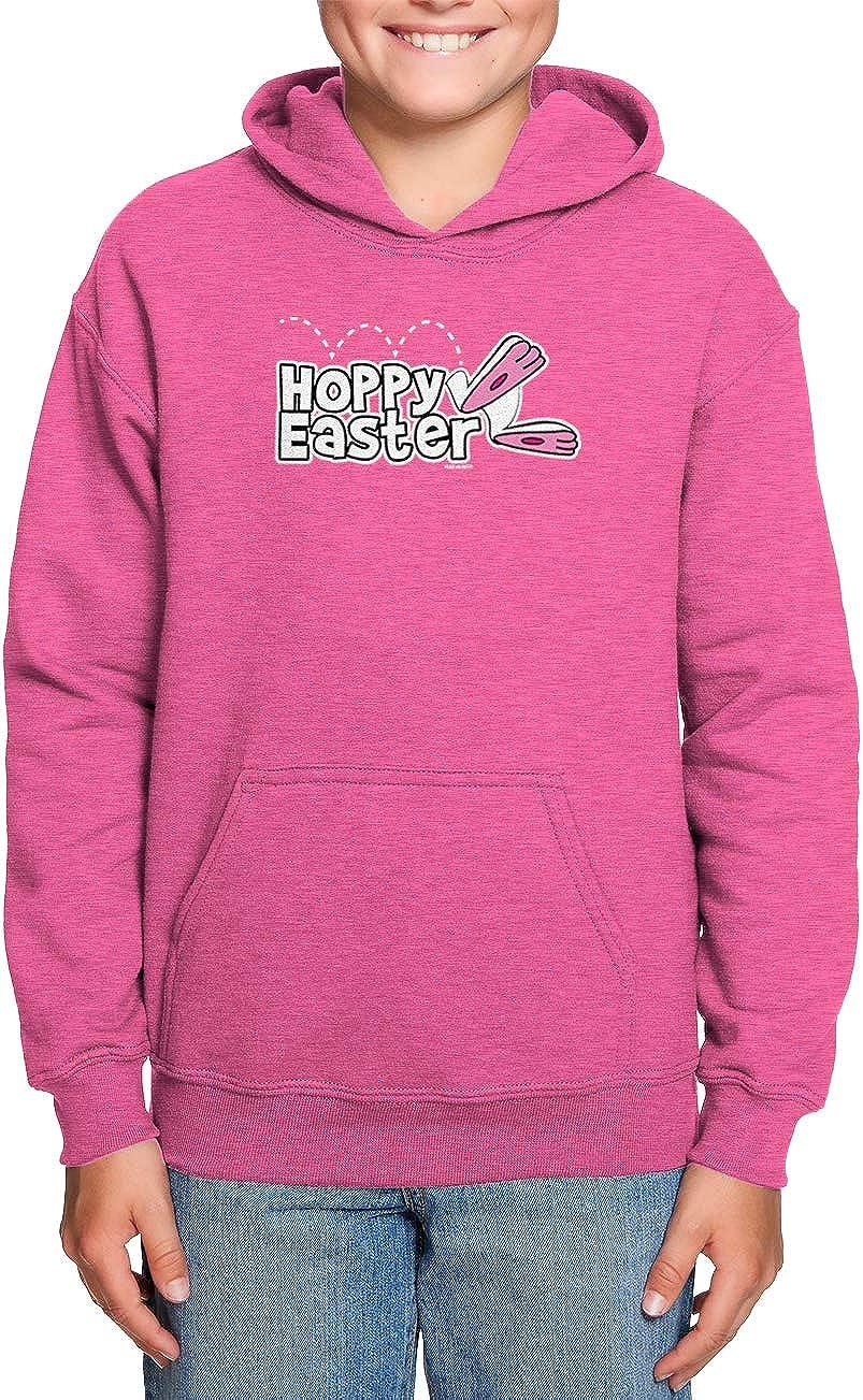 Happy Bunny Egg Toddler//Youth Fleece Hoodie HAASE UNLIMITED Hoppy Easter