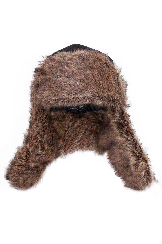 Imbottitura in Pelliccia Ideale per Sciare Mountain Warehouse Furry Cappello Unisex Coperto sulle Orecchie e Laccio sul Mento