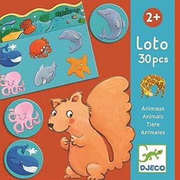 Djeco- Juegos de Mesa Educativos Loto Animales, Multicolor (DJ08120): Amazon.es: Juguetes y juegos