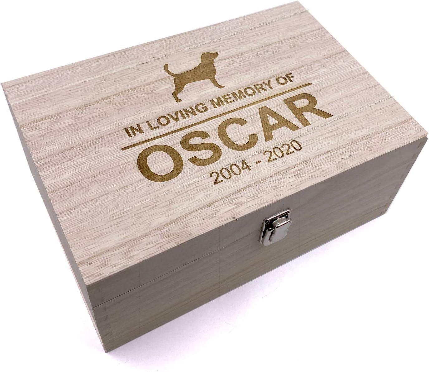 Raised Words Personalised Dog Memorial Remembrance Gift Keepsake Box Engraved