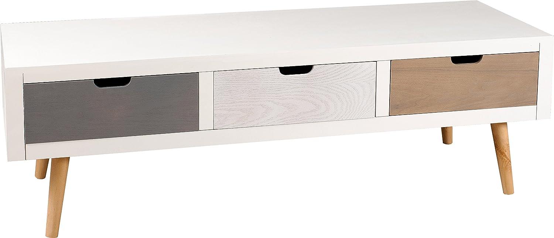 Nomades Design 705000 Meuble Tv Avec 3 Tiroirs Pin Mdf 40 X 120 X  # Meuble Tv Bjorn