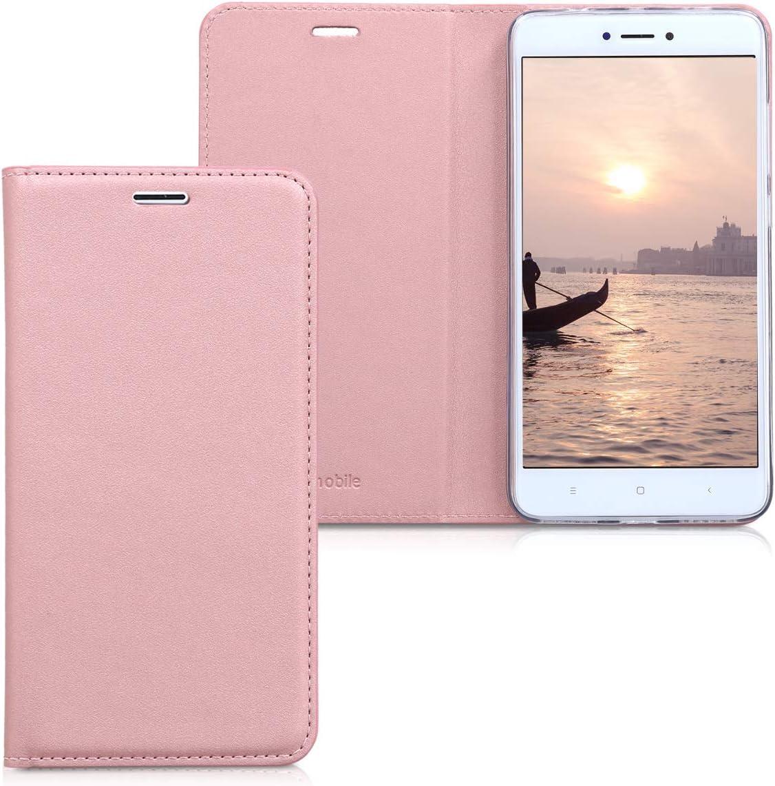 kwmobile Custodia per Xiaomi Redmi Note 4 - Cover a libro in simil pelle per cellulare - Flip case protettiva nero
