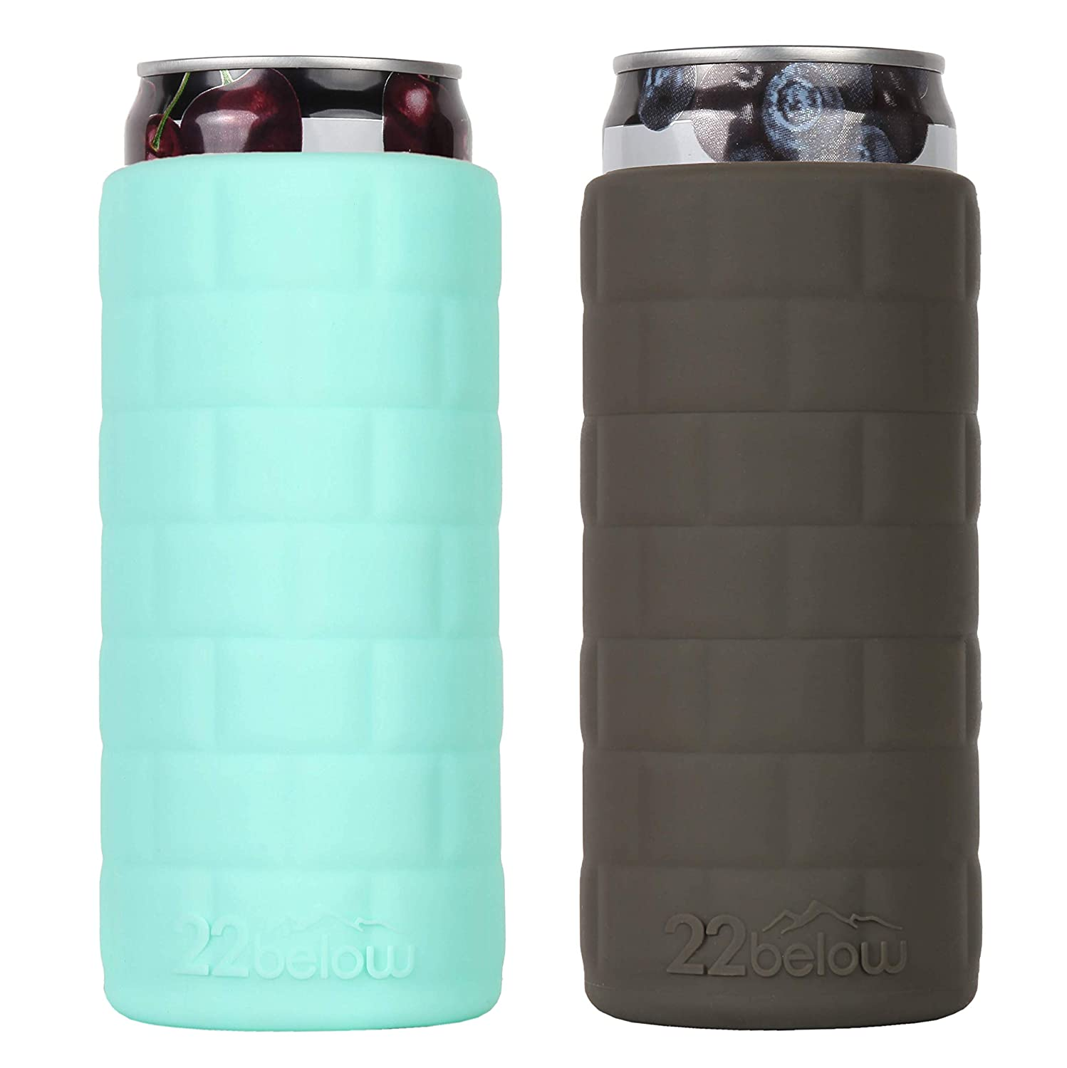 Standard Can Flexible Soft Touch Silicone Insulated Cooler Arctic White 22below
