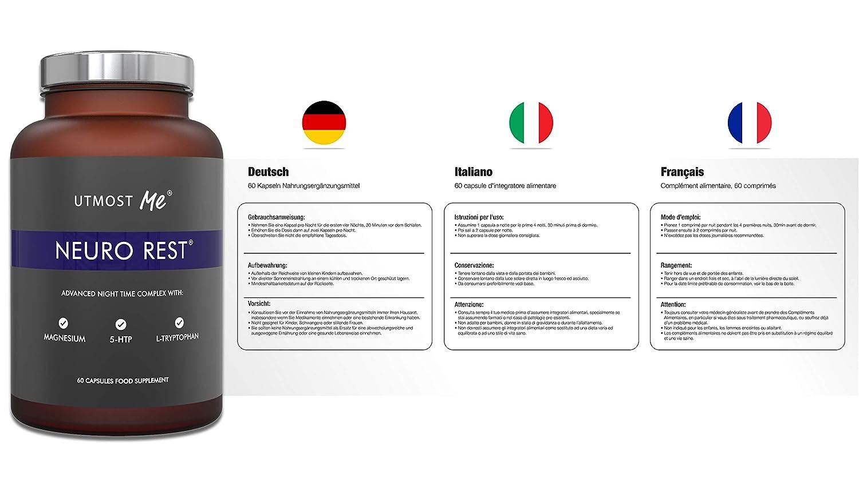 5-HTP, magnesio, melatonina natural para el sueño ...
