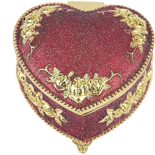 Wifehelper Caja Decorativa En Forma de corazón Antiguo Tallado ...