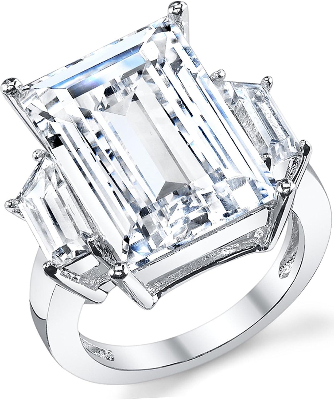 Kim Kardashian Sterling Silver Engagement Wedding Ring With Large