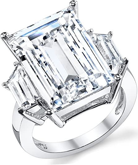 Ultimate Metals Co Kim Kardashian Sterling Silver Engagement