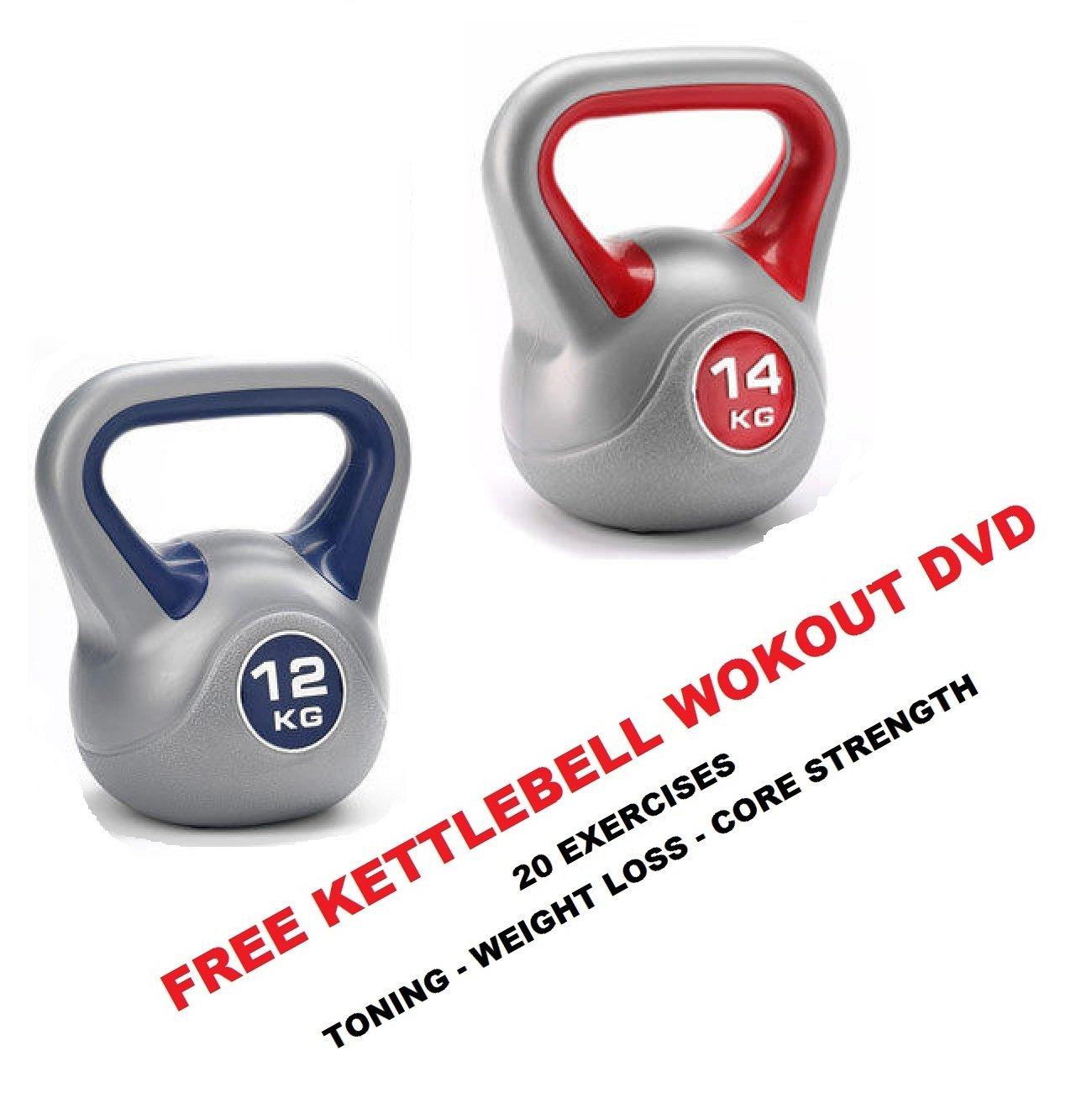 Kettlebell Vinyl 12+14kg Kettlebell Gewicht