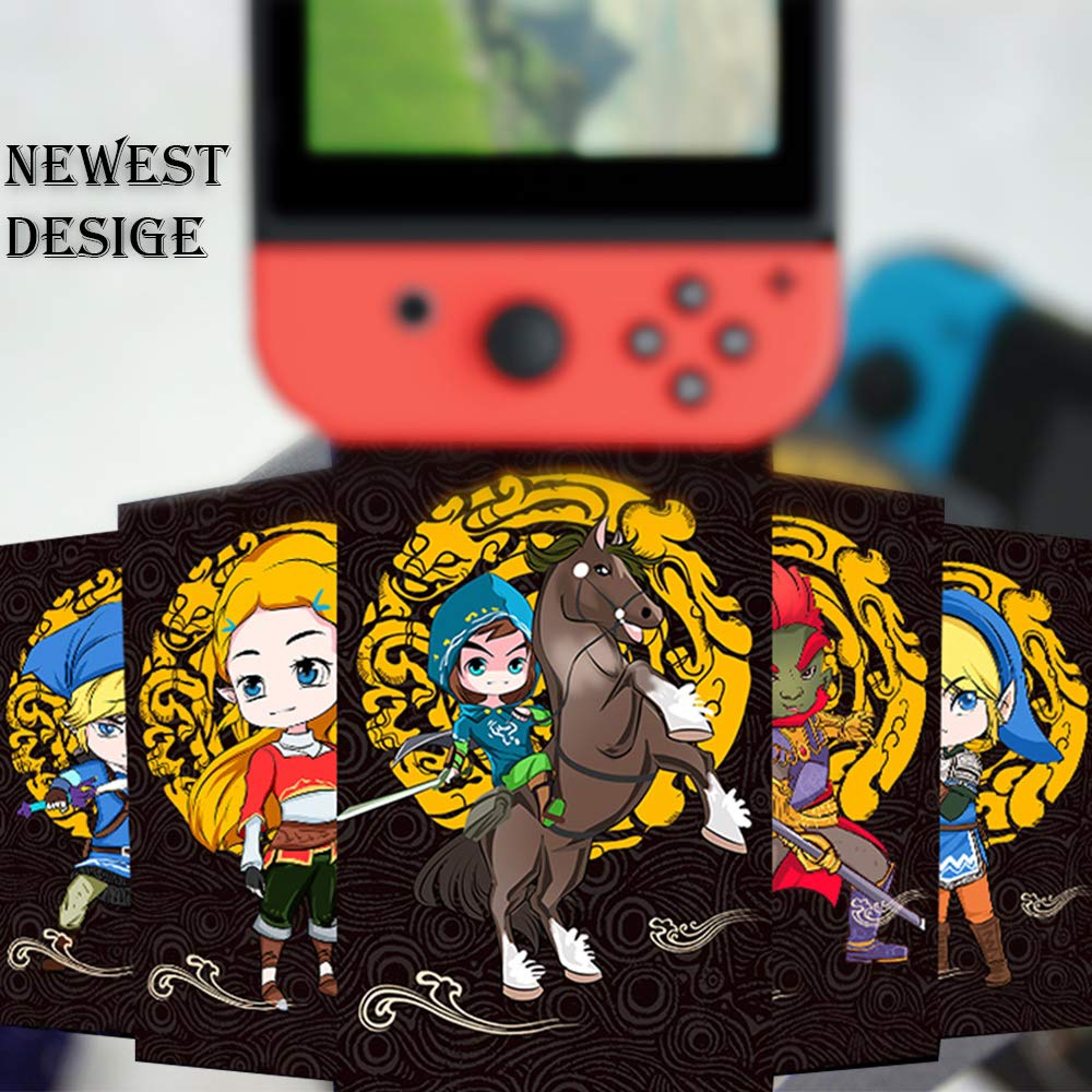 24Pcs Mini NFC Tag Game Cards for The Legend of Zelda Breath of The Wild Special Black Version for Switch/Wii U Cards with Card Box