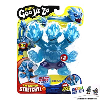 Heroes of Goo JIT Zu Hydra Ultra Rare, Series 2 Water Blast Attack with 2 GosuToys Stickers: Toys & Games