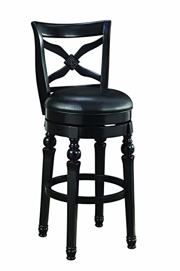 Sensational Lathrop 29 Swivel Bar Stool With Faux Leather Seat Black Squirreltailoven Fun Painted Chair Ideas Images Squirreltailovenorg