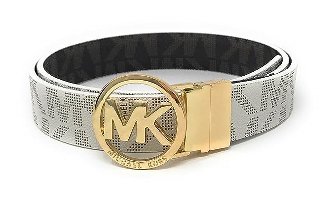 7941a48a178d MICHAEL Michael Kors Belt with MK Logo Plaque (Large)