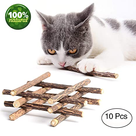 YAMI Cat Catnip Stick Juguete para Masticar Dientes de Gato Palo de Matatabi 100% Natural