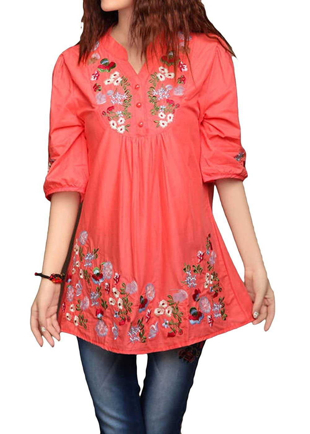 b7716373720 Top 10 wholesale Mexican Embroidered Peasant Shirts - Chinabrands.com