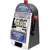 Slot Machine da Casinò Giocattolo Salvadanaio con Suoni e Luci Lampeggianti 22cm bianca