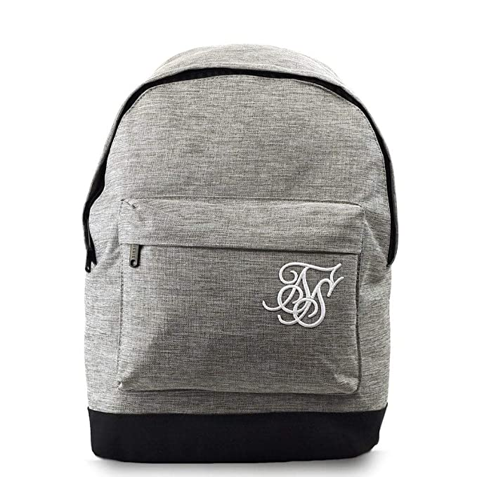 Amazon.com | SIK SILK Pouch Backpack Grey Marl Schoolbag SS-13246 SIK SILK Bags | Backpacks