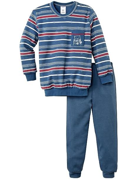 Calida Pyjama Bündchen Family Time, Conjuntos de Pijama para Niños, Azul (Nimes Blue