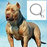 Petlicious & More Dog's Chrome Plated Training Choke Chain Collars (22 Inch Collar/2 cm Thick)